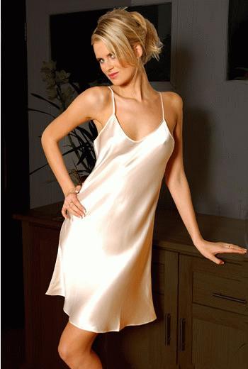 Sexy silk chemise